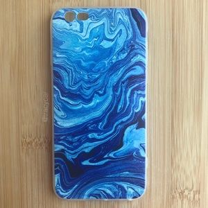 Accessories - NEW Iphone 6/6s/6+/6s+ Blue Swirly Case